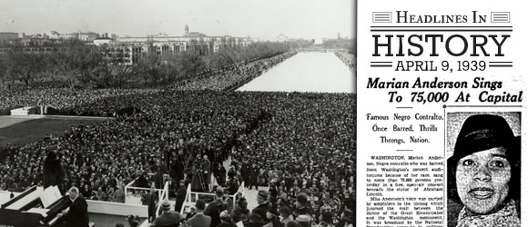 Headline in History - Marian Anderson Sings to 75,000
