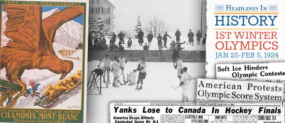 Headline in History - 1st Winter Olympics