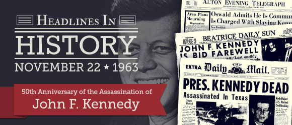 jfk 50th loved-one's birthday reports newspaper