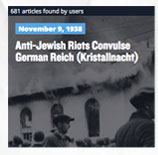November 9, 1938 Anti-Jewish Riots Convulse German Reich (Kristallnacht)