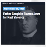 Father Coughlin Blames Jews for Nazi Violence