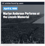 April 9, 1939 Marian Anderson Performs at the Lincoln Memorial