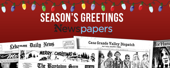 Season's Greetings freom Newspapers.com