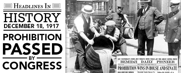 Prohibition Ends: December 5, 1933