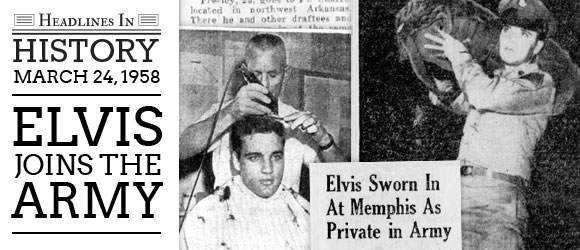 Image result for elvis presley inducted into the army 1958